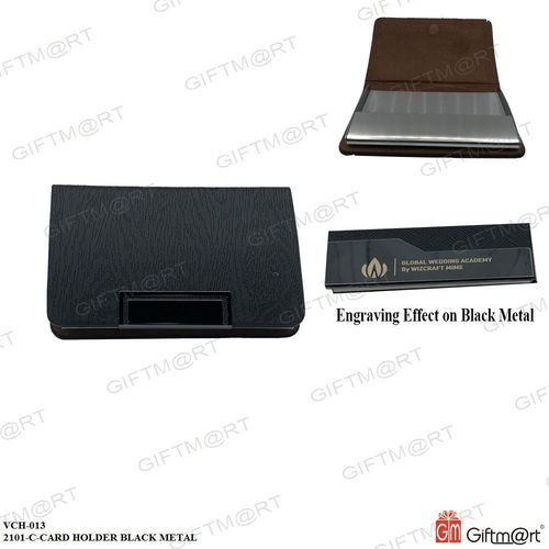 Card Holder Black Metal