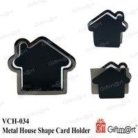 Metal House Shape Card Holder