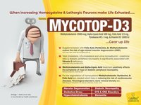 Methylcobalamin 1500 Mcg,Alpha Lipoic Acid 100 Mg,Folic Acid 1.5 Mg,Pyridoxine 3 Mg,Vit.D3 1000 I.U.