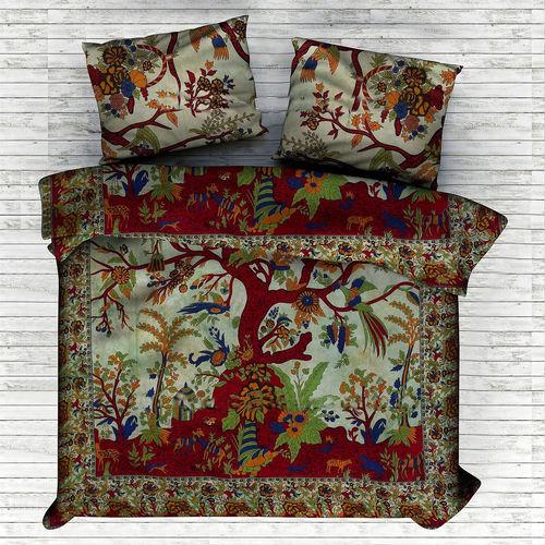 Indian Mandala Cotton Red Tree Duvet Cover