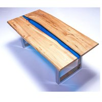 Wooden epoxy Resin  Clear Table Top for hotel and home high quality new design