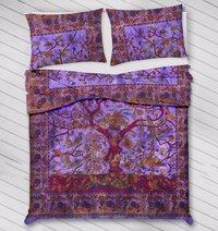 Indian Mandala Cotton Perple Tree Duvet Cover