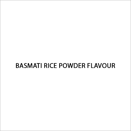 Basmati Rice Powder Flavour