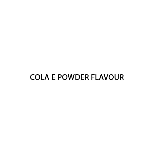 Cola E Powder Flavour