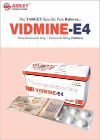Thiocolchicoside 4mg + Etoricoxib 60mg Tablet