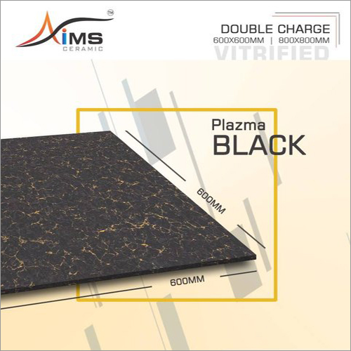 Plazma Black Double Charged Vitrified Tiles