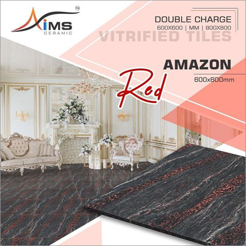 Amazon Red Double Charged Vitrified Tiles