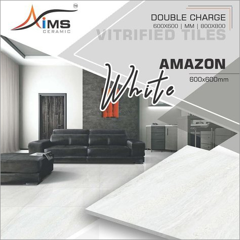 Amazon White Double Charged Vitrified Tiles