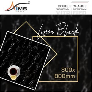 Linea Black Double Charged Vitrified Tiles