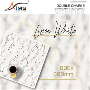 Linea White Double Charged Vitrified Tiles