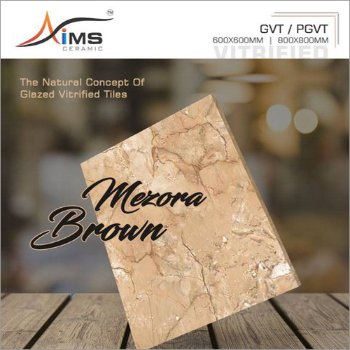 Mezora Brown GVT PGVT Vitrified Tiles