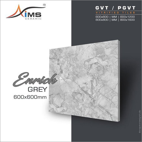 Enrich Grey GVT PGVT Vitrified Tiles
