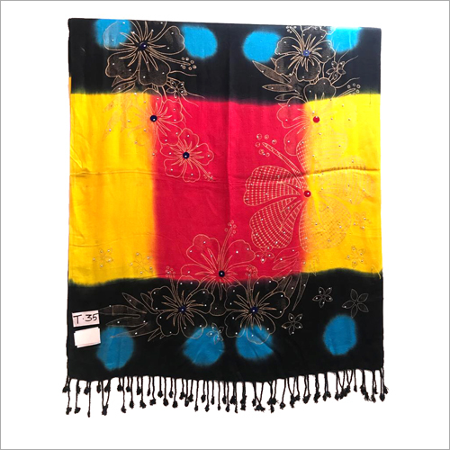 Ladies Printed Tassel Stole