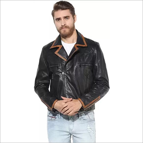 Mens Pure Designer Leather Jacket