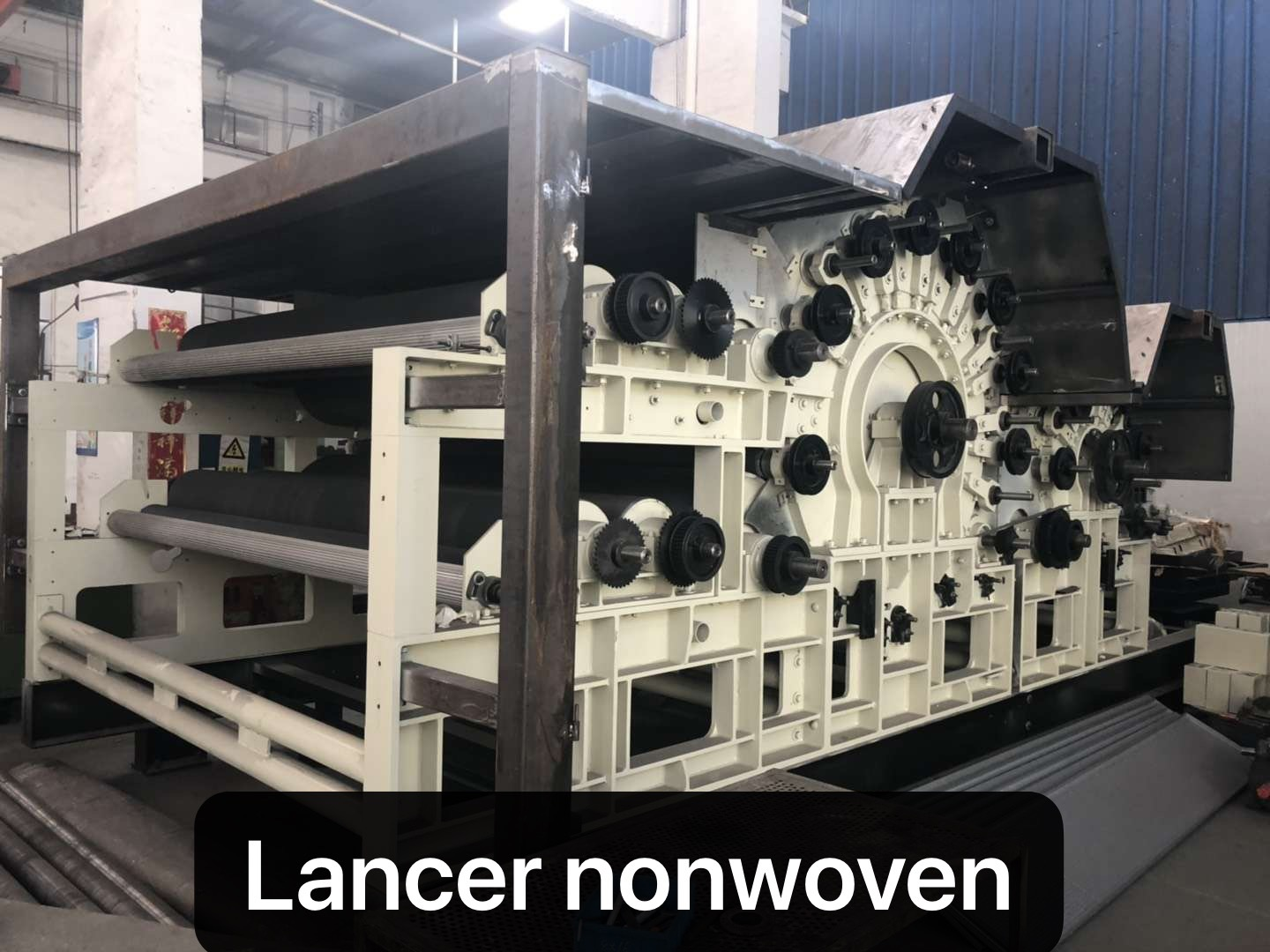 Nonwoven interlining production machine