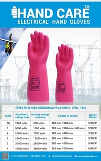 kavach make electrical  rubber hand  gloves