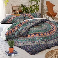 Indian Mandala Cotton Green Round Duvet Cover