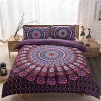 Indian Mandala Pink Round Cotten Duvet Cover