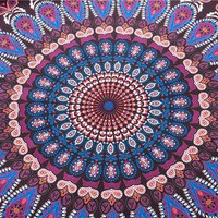 Indian Mandala Pink Round Cotten Duvet Cover