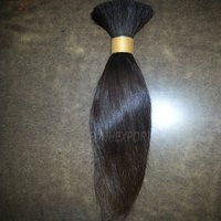 Indian Remy Silky Straight Bulk Human Hair