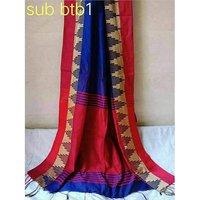 Handloom Cotton Silk Temple Work Sarees