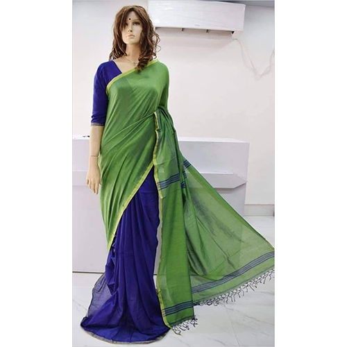 Handloom Cotton Plain Saree
