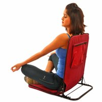 Folding Meditation Yoga Picnic and Camping Chair (Red)