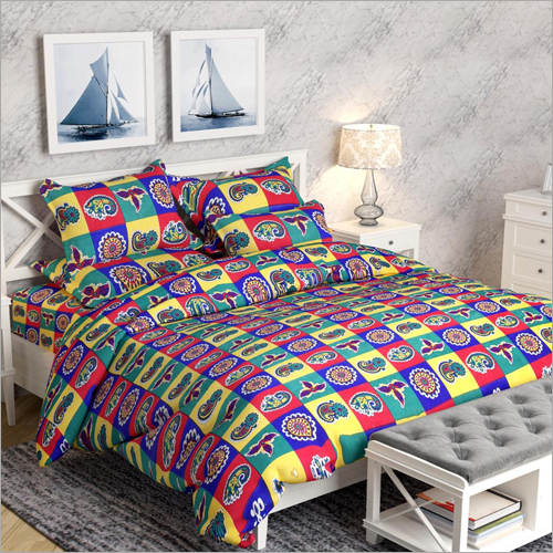 Single Bed Check Printed Quilt
