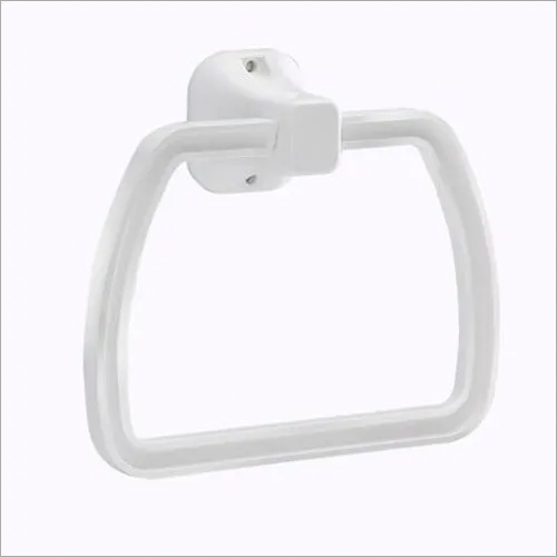 PVC White Bathroom Towel Rings