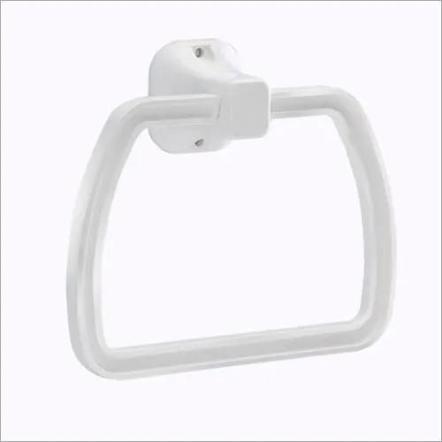 PVC White Bathroom Towel Rings