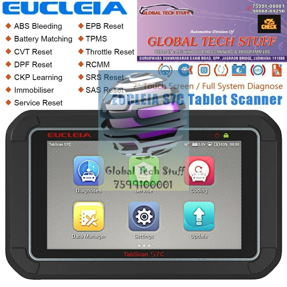 Eucleia Tabscan S7c better than Launch EasyDiag Golo X431 3.0