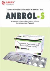 Aceclofenac 100mg + Paracetamol 325mg + Serratiopeptidase 10mg Tablet