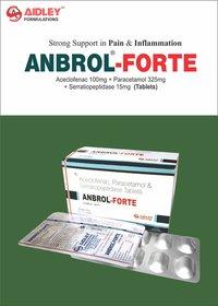 Aceclofenac 100mg + Paracetamol 325mg + Serratiopeptidase 15mg Tablet