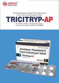 Aceclofenac 100mg + Paracetamol 325mg + Trypsin Chymotrysin 50000 IU