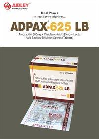 Amoxycillin 500 mg + Clavulanic Acid 125mg + Lactic Acid Baccillus 60 Million Spores.