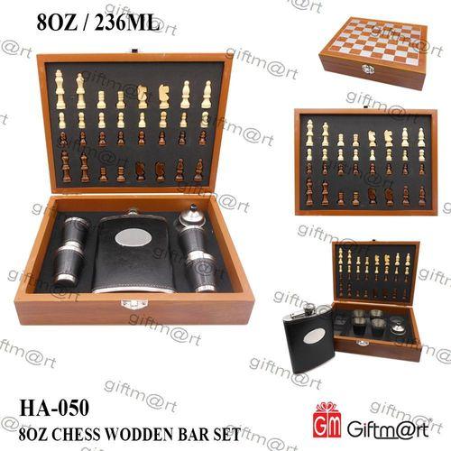 Wooden Chess Bar Set