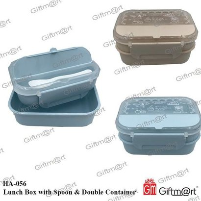 Ha-056 Lunch Box With Spoon & Double Container Cavity Quantity: Single