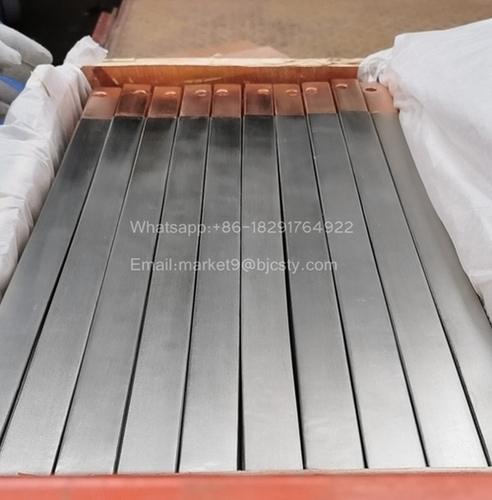 Titanium clad copper bar for anode use