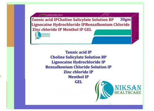 Tannic Acid Choline Salicylate Lignocaine Zinc Gel