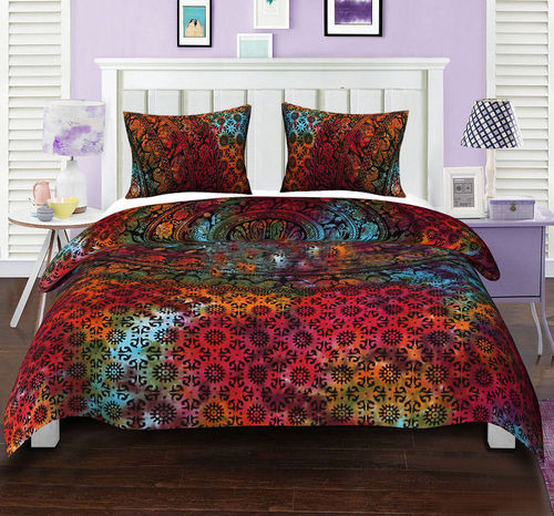 Indian Mandala Cotton Multicolour Big Flower Duvet Cover