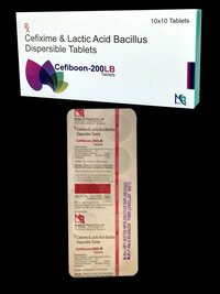 Cefixime 200 MG & Lactic Acid Bacillus Dispersible tab
