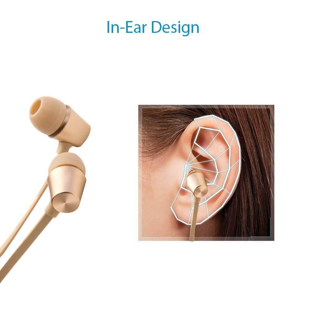 Metal Finish in ear 3.5 jack bluei M9 earphone