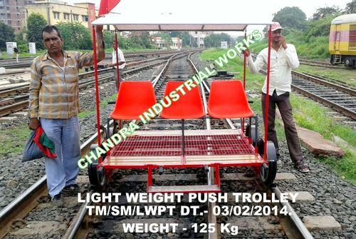 Railway Light Weight Push Trolley