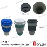 Bamboo Fiber Mug with Silicon Lid and Gripper