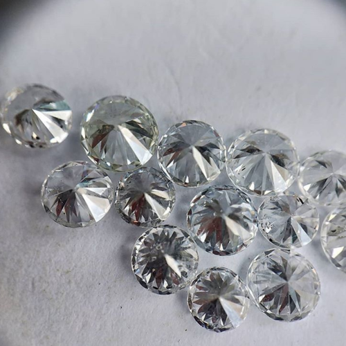 Cvd Diamond 2.10mm to2.20mm DEF VVS VS Round Brilliant Cut Lab Grown HPHT Loose Stones TCW 1