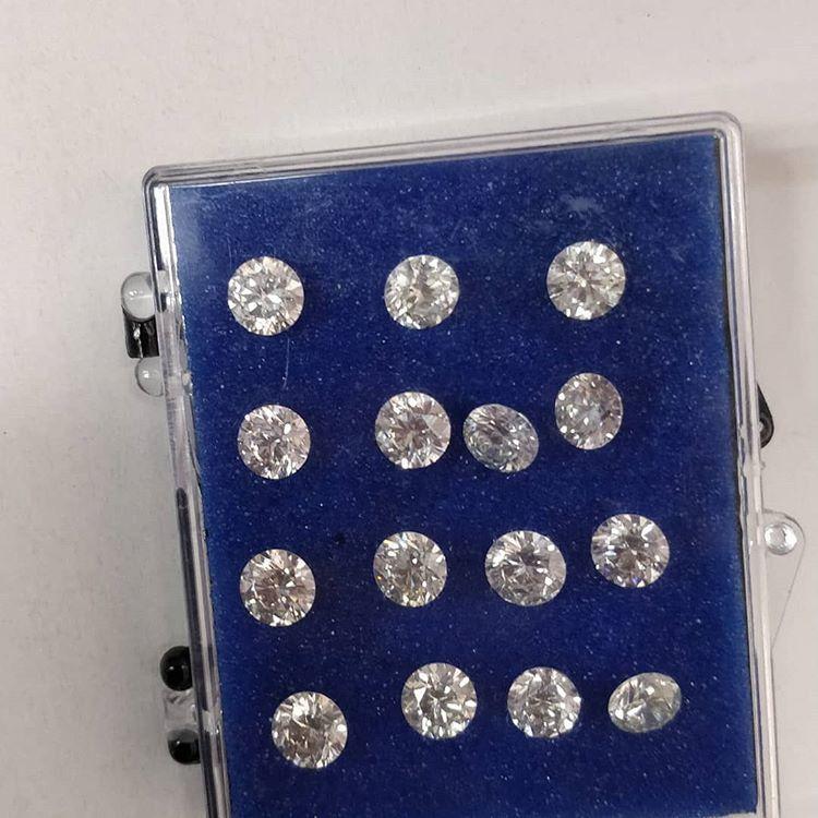 Cvd Diamond 2.50mm to2.60mm DEF VVS VS Round Brilliant Cut Lab Grown HPHT Loose Stones TCW 1