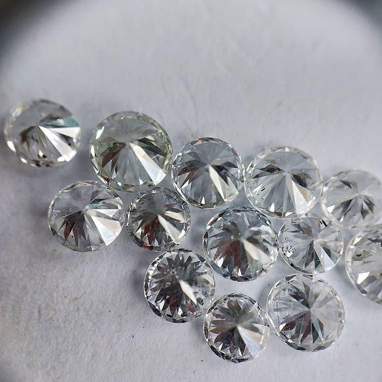 Cvd Diamond 3.30mm to3.40mm DEF VVS VS Round Brilliant Cut Lab Grown HPHT Loose Stones TCW 1