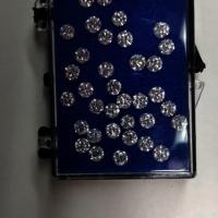 Cvd Diamond 3.20mm to3.30mm DEF VVS VS Round Brilliant Cut Lab Grown HPHT Loose Stones TCW 1