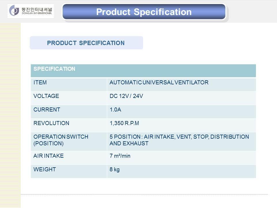 Ventilator System for Bus (Hyundai, Daewoo)