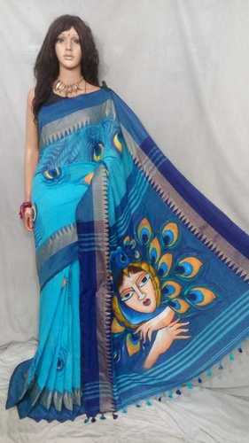 Khadi Cotton Batik Printed Sarees
